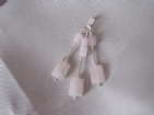 Baby Pink Rose Quartz Faceted Oblongs, Tubes & Sterling Silver Trio Pendant | Silver Sensations